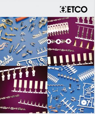 Cover from ETCO's 2020 brochure of electrical terminals and application machinery