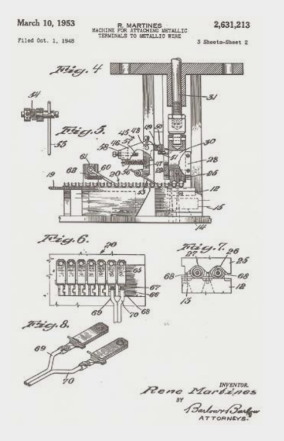 ETCO 1948 Patent Application Drawings - Electric Terminal Applicator Machine Page 2