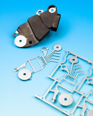 Custom metal stampings engineered and built by ETCO to increase manufacturing efficiency.