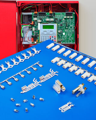 ETCO Terminals and Connectors for Fire Alarm Systems meet specifications including UL, NEMA, ISO 9001:2015, IATF 16949:2016, ISO/TS 1649:2002, and more.