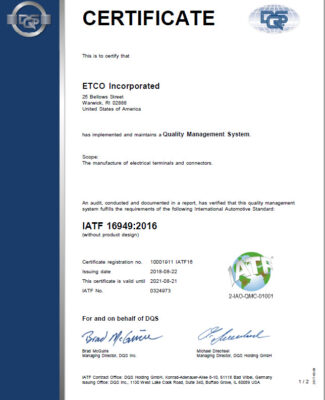 IATF 16949 2016 Certification